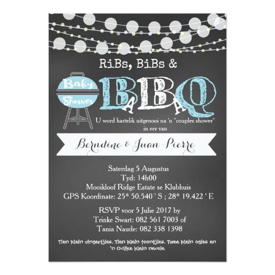BaByQ Couples Baby Shower Invitation