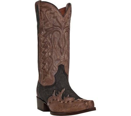 Dan Post Boots Men's Lucky Break DP2249 Chocolate Rustic Saddle Brand  Leather Size 11.5 D,