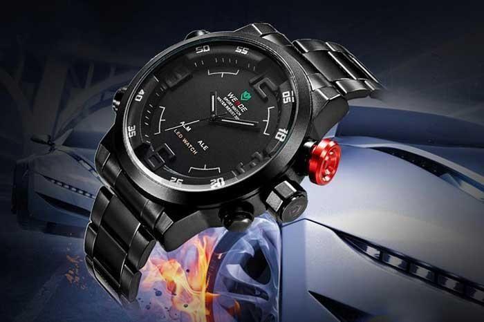 "Shark Military Army LED Watch Stainless Luxury ""Sniper"" https://goo.gl/v6cgzu"