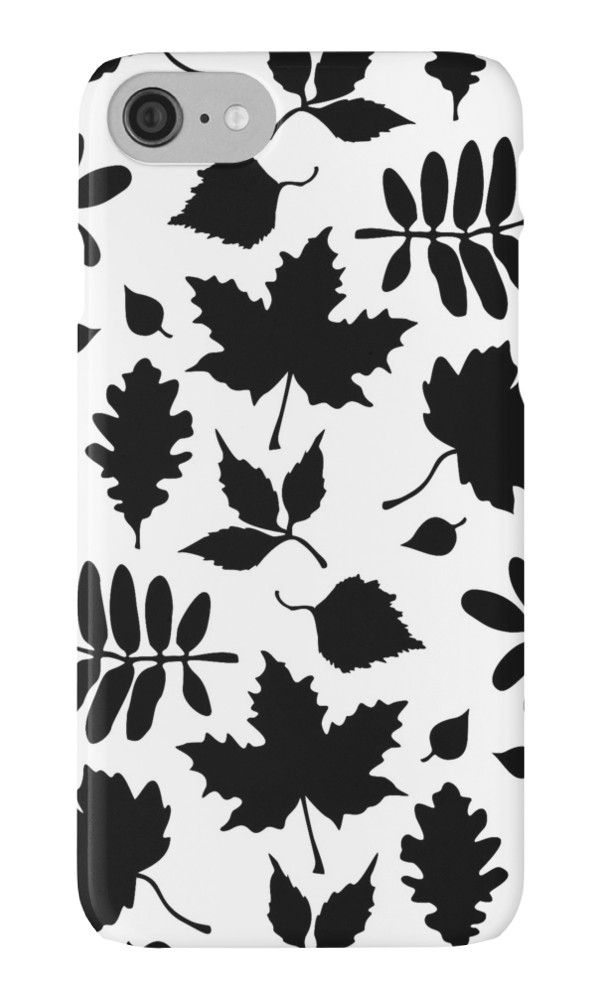 Bold Black Leaves Pattern by XOOXOO  iPhone Cases & Skins  PHONE CASE FOR IPHONE 4/4S/5/5C/5S/6/6 PLUS/ 7/7 PLUS