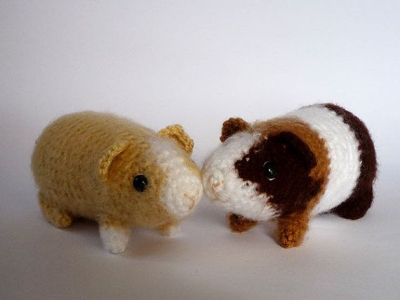 Guinea pig plushies realistic crochet toys by LunasCrafts on Etsy, $20.00