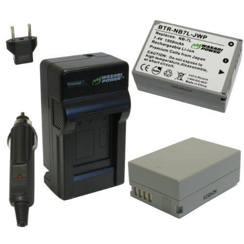 Wasabi Power Battery and Charger Kit for Canon NB-7L, PowerShot G10, G11, G12, SX30 IS