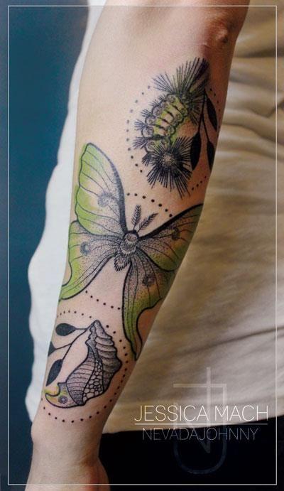 Tattoo by Jessica Mach, Berlin.