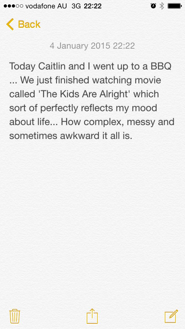 Today's thoughts
