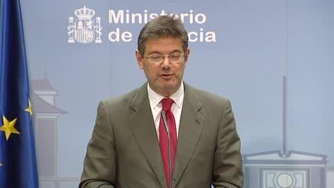 El ministro de justicia en funciones, Rafael Catalá, ha puesto en duda que la carta del juez...