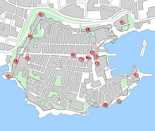 Dubrovnik térképe a fontosabb látnivalókkal, nevezetességekkel. #dubrovnik #térkép #horvátország