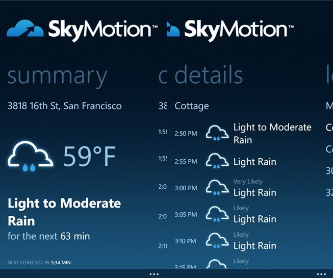 SkyMotion Windows Phone