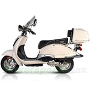"$1,149.95     BMS Heritage 150cc Moped Scooter with 10"" Wheels, Windshield, Rear Trunk! Made by ZNEN, High Quality!"