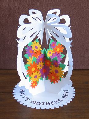 Papercutting Template A5 DIY Flower Basket Paper by NineFingerJo
