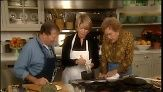 VIDEO: Julia Child makes classic bearnaise sauce with Jacques Pepin and Martha Stewart.