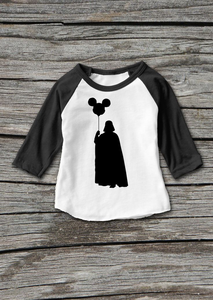 Darth Vader Holding Mickey Mouse Balloon Disney Star Wars Raglan T-Shirt https://www.etsy.com/listing/276838612/darth-vader-holding-mickey-mouse-balloon