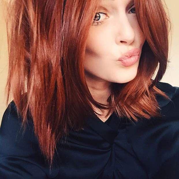Teinture cheveux roux