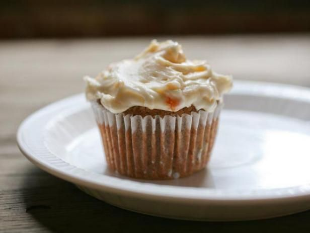 Get Quick Cupcakes with Peach Frosting Recipe from Food Network