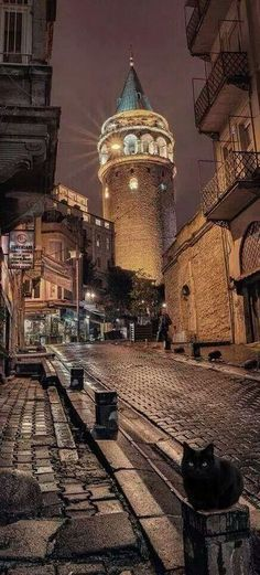 The Galata tower in Istanbul, Turkey.