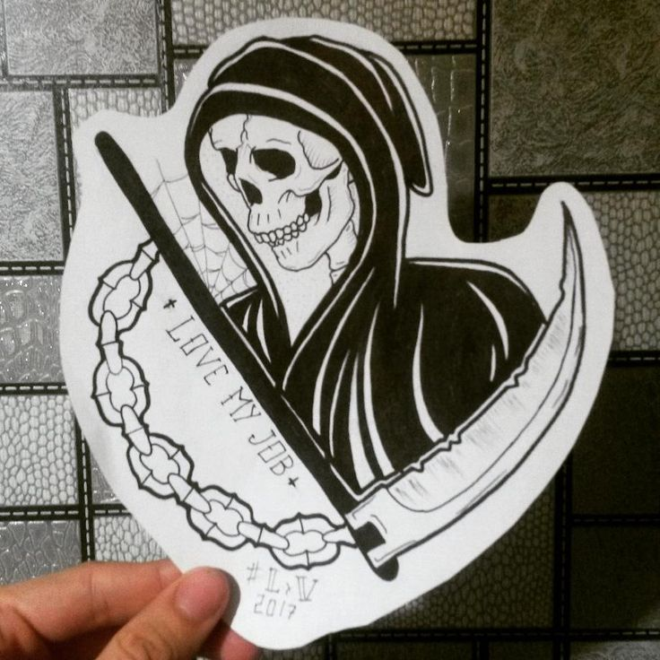 #oldschool #drawning #fleshtattoo #эскиз #ink #traditional #Sketch #tattoo #grim #grimreaper #reaper #цепь #смерть #коса #жнец #скелет #love #lovemyjob ######