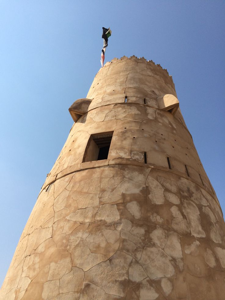 Tower in ghost town Jazeera Humrah