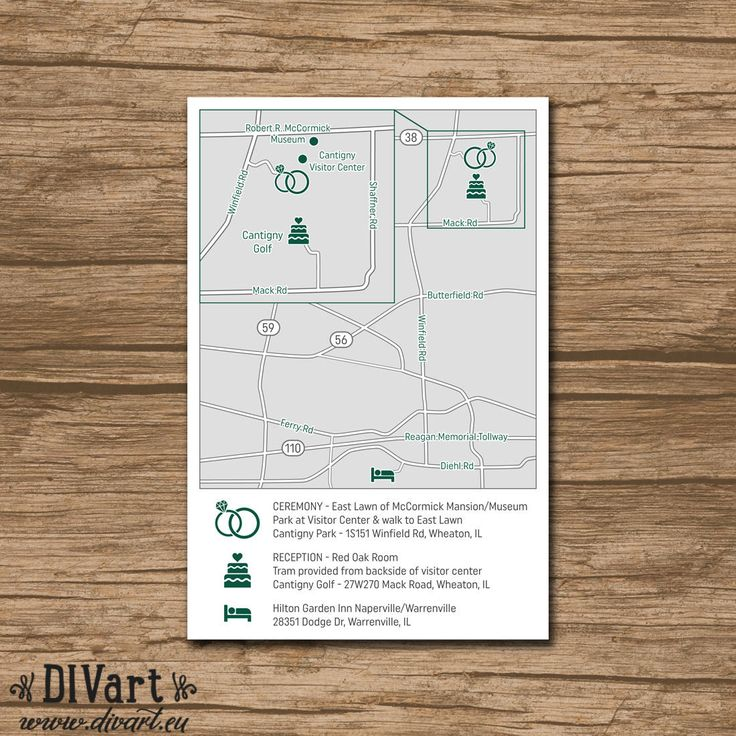 wedding invitations map%0A Custom Wedding Map  Event Map  Directions  Locations  Zoomin  PRINTABLE  file  Enclosure Card  Invitation Insert with a map
