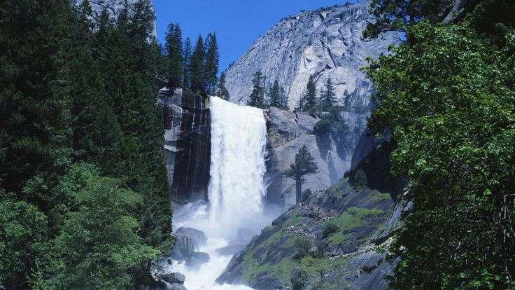 2017 SURVEY #2: YOSEMITE NATIONAL PARK offers an abundance of activities and sightseeing destinations. Yosemite Falls is the largest waterfall in North America with breathtaking views. Peak visitation at the falls is in the spring as it is comprised entirely of melting snow. The park is also known for its Giant Sequoia trees, which are estimated to be over 3,000 years old.  Waterfall at Yosemite National Park