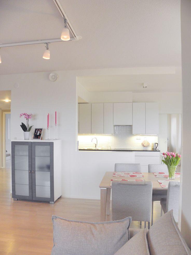 Apartment, kitchen, interior design. Asunto, keittiö, sisustussuunnittelu. Lägenhet, kök, inredningsdesign.
