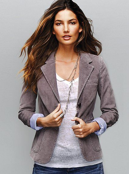 Cord does double duty as a light jacket in the fall, and one for cooler days of spring.