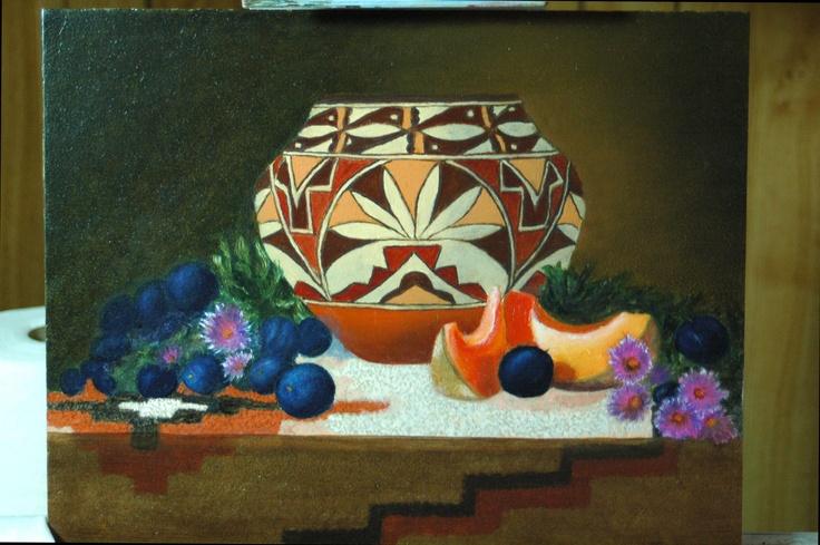 Pot with Cantaloupe