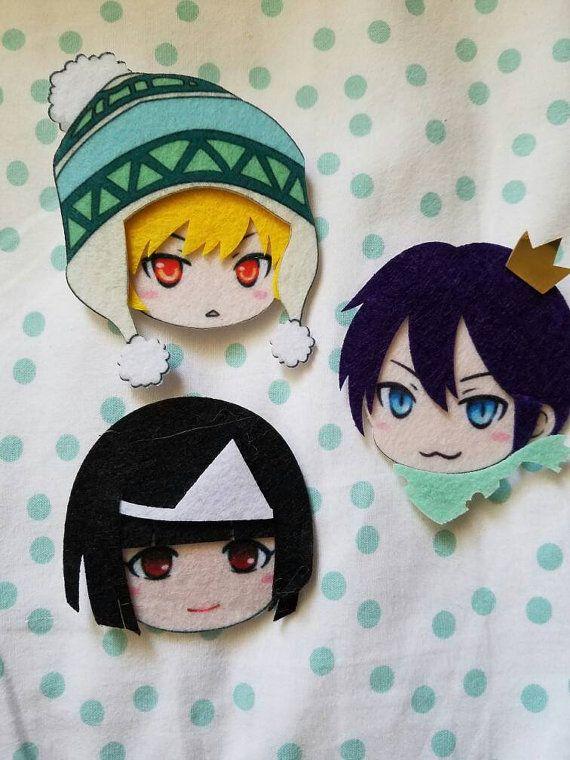 Noragami Felt Pins Yatogami Yukine Nora by TINYCRABAPPLES on Etsy