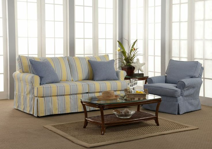 A unique slip cover system that allows you to change up your decor whenever you want!   #HomeDecor #Slipcovers