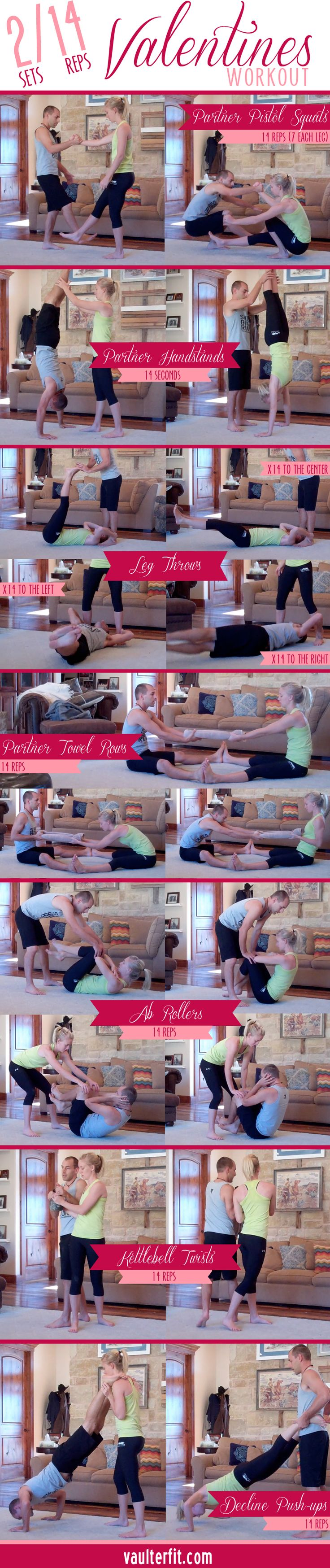 Valentine's Day Partner Workout - fun workout to do as a couple!