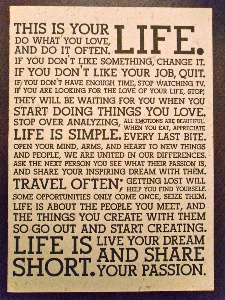 """""""this is your LIFE...""""  <3"""