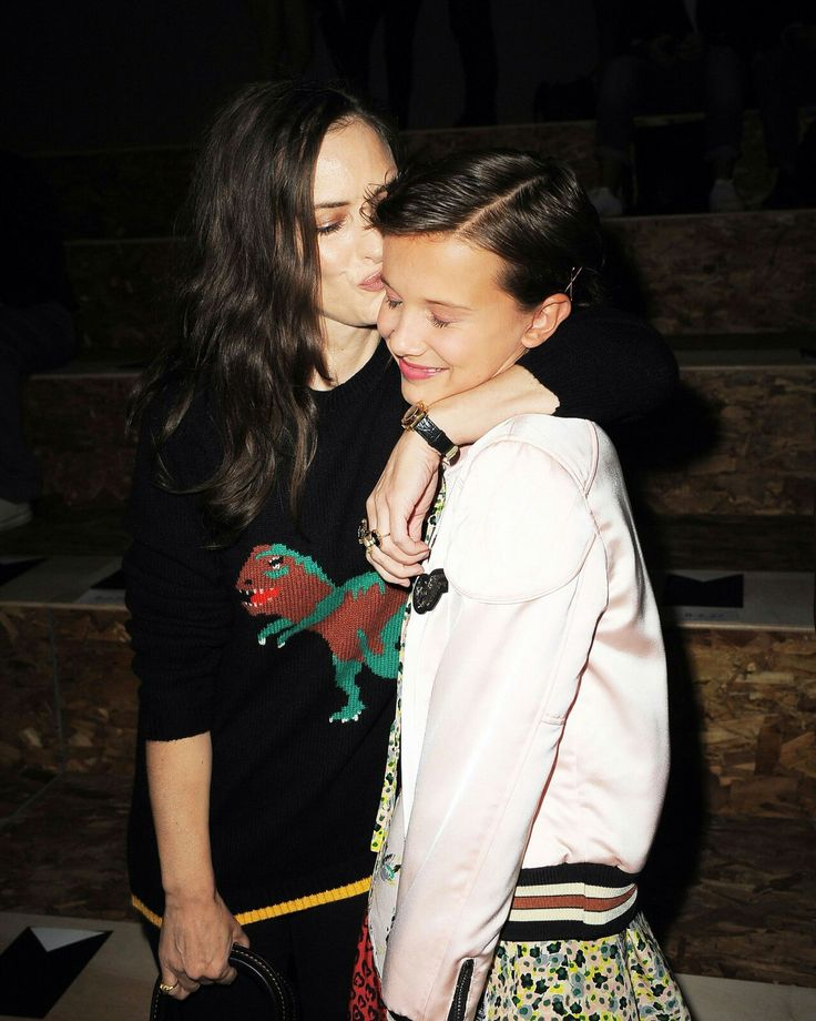Winona Ryder and Millie Bobby Brown