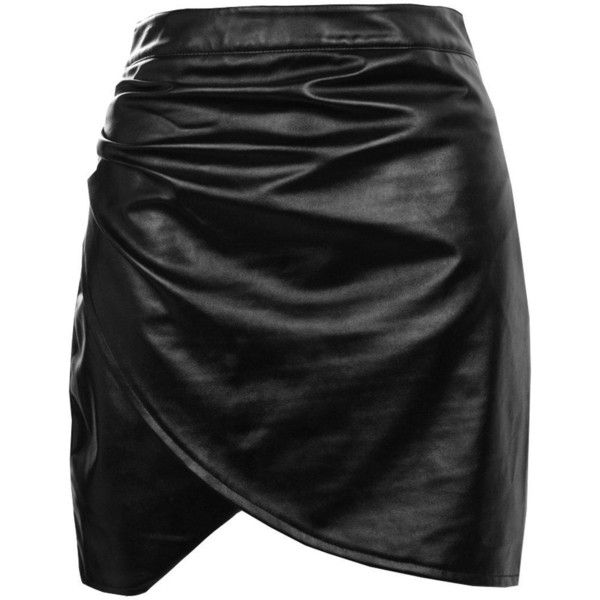 Boohoo Elettra Rouched Side Leather Look Mini Skirt | Boohoo (130 GTQ) ❤ liked on Polyvore featuring skirts, mini skirts, maxi skirt, short maxi skirt, pleated midi skirt, mini circle skirt and faux-leather midi skirts