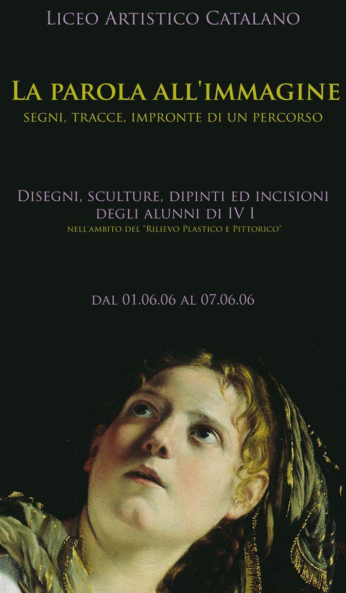 """Locandina della mostra """"La parola all'immagine"""" - 2006"""