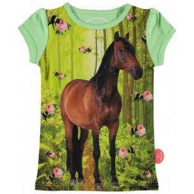 Kunstboer zomercollectie 2016 meisjes t-shirt paard