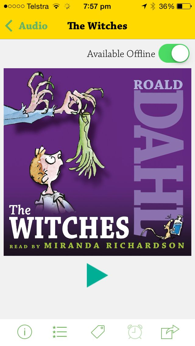 DAHL AUDIO. All of Roald Dahl's books as audio books. Great for literacy groups, book clubs etc. All accessible within the app and each is fairly priced. Read by brilliant actors. Who doesn't love Roald Dahl? Big win.