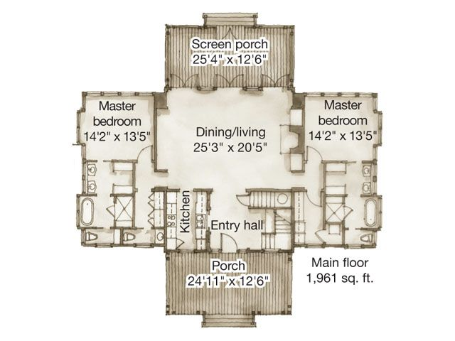 fantastic upstairs living house plans. White Plains Plan Main 1961 Sq ft Every bedroom has it s own bath  1072 best Build a Cottage images on Pinterest Small houses Tiny