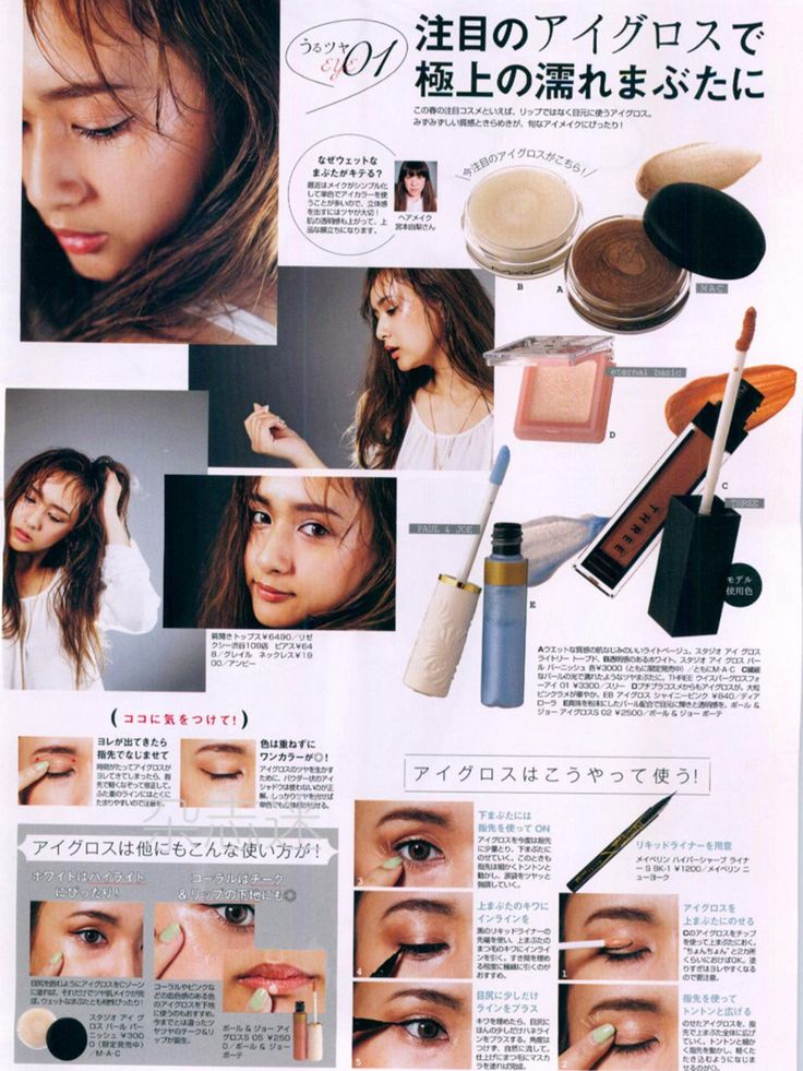 Jelly 6月 June 2016  Wet look make up  Japanese Gal/Gyaru fashion magazine