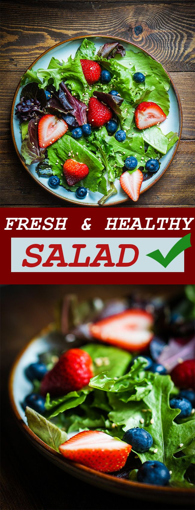 If you love strawberries, then this will be your favorite salad. Besides being sweet and tangy, it is packed with fiber which will help keep your digestive track healthy and low in cholesterol. What more