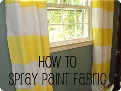 Spray-paint curtainsSprays Painting Fabrics, Sprays Painting Curtains, Back Porches, Painting Techniques, Curtains Tutorials, Stripes Curtains, Spray Painting, Striped Curtains, Diy Projects