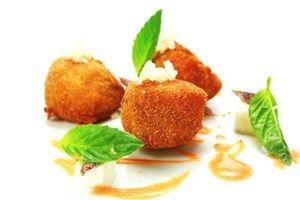 Fried scallops with mozzarella #yummy