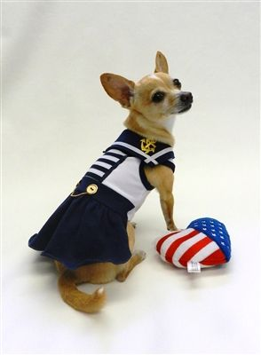 Sail Away Sailor Dress for Dogs by Ruff Ruff Couture. Available at http://doggyinwonderland.com/item_1462/Sail-Away-Sailor-Dress-for-Dogs-by-Ruff-Ruff-Couture.htm starting at $45.00