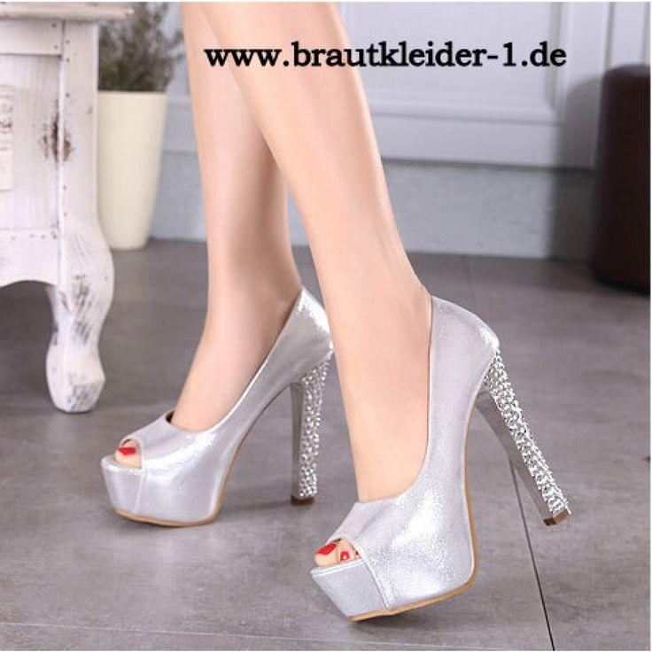 Sexy Damen Schuhe Pumps für den Standesamt Silber