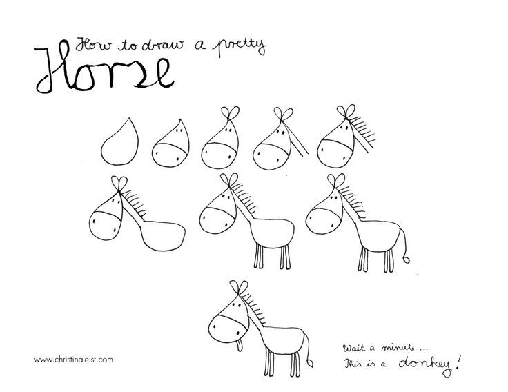 how to draw a horse | How to draw a horse, …ahem donkey