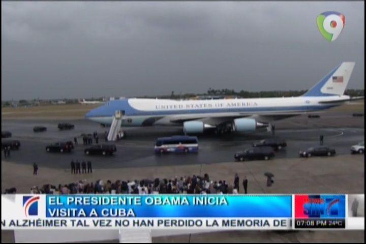 El Presidente Obama Inicia Visita A Cuba