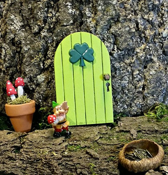 St patrick 39 s day fairy door irish fairy garden for Irish fairy door ideas