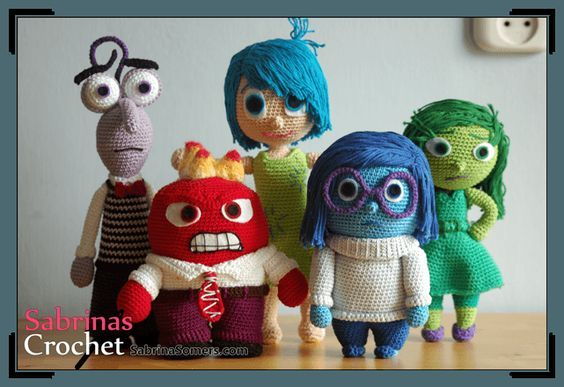 Amigurumi İnside Out Character-Free Pattern                                                                                                                                                                                 More