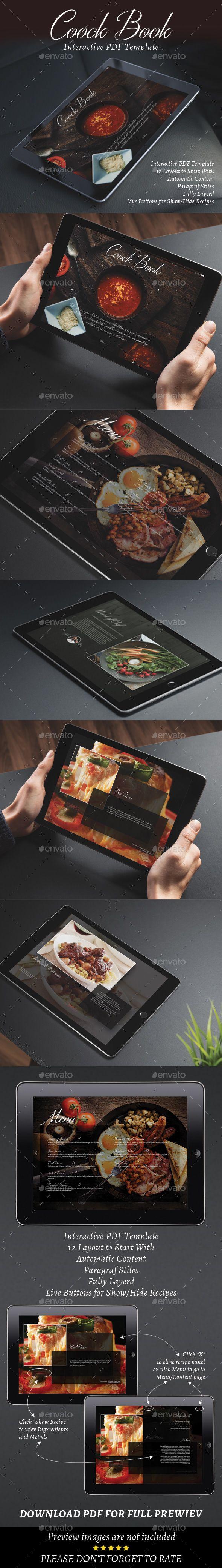 Interactive CookBook or Restaurant Menu Template InDesign INDD #design Download: http://graphicriver.net/item/interactive-cookbook-or-restaurant-menu/13908557?ref=ksioks
