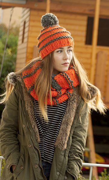 Komplet Montana szary z pomarańczem w Barabella_shop na DaWanda.com