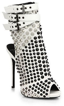 Giuseppe Zanotti Studded Platform Bootie Sandals on shopstyle.com #giuseppezanottiheelswhite