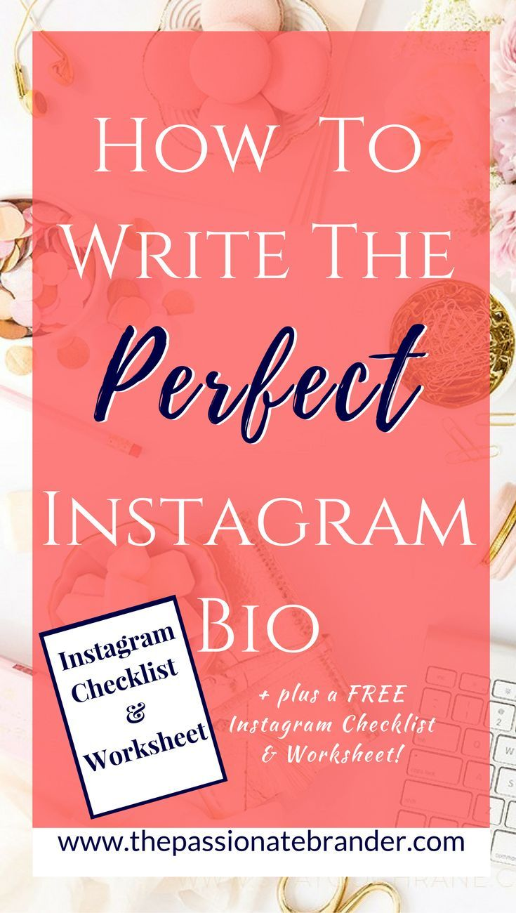 193 best blogging instagram images on pinterest instagram tips how to write the perfect instagram bio robcynllc Images