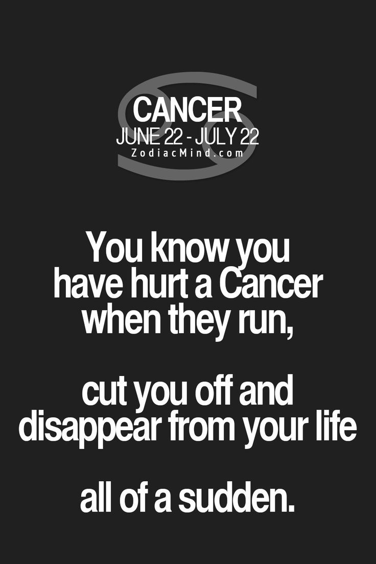 This is absolutely true. If you hurt us, we disappear instantly from your life. We are the nomads... #truth #cancerian